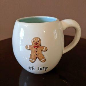 Rae Dunn Oh Snap Gingerbread Man Mug NEW